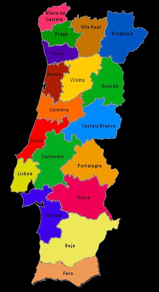 Portugal DISTRITOS